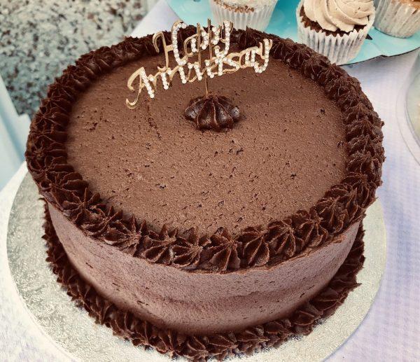 Chocolate Cake with decor