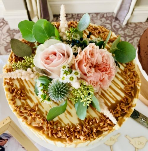 Salted Caramel Wedding Cake