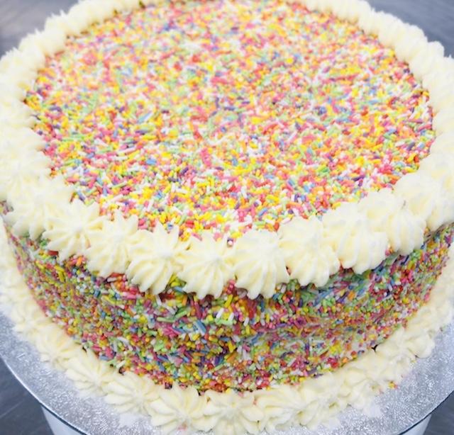 10-inch White Cake w Sprinkles